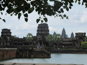 Angkor Wat from across the moat