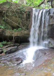Waterfall at top of Kbal Spean