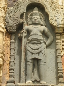 Male devata on temple wall