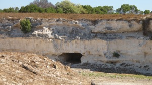 Lime quarry where inmates worked