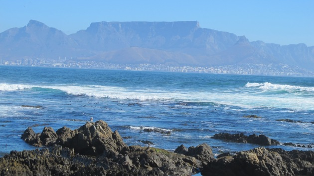 Table Mountain across Robben Island