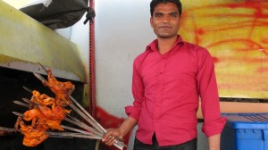 Chicken tikka vendor