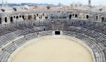 Inside the amphitheater, Nimes