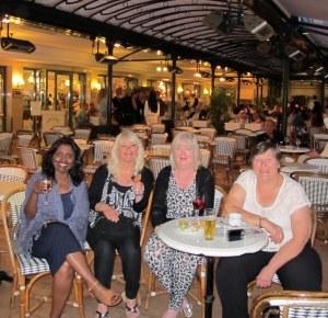 Cafe de Paris with fellow 'mates'