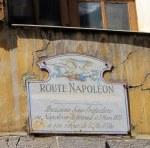 Café in Castellane where Napolean Bonaparte had lunch