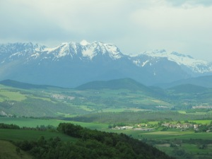 View  of the Alps from Napolean Route