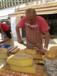 Cheese stall, Beaune