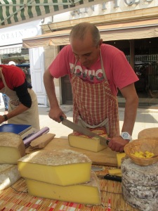 Cheese stall, Beaune