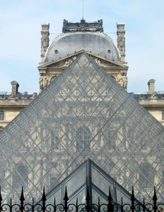 Pyramid in front of  the Louvre