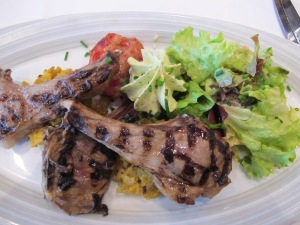 Salted meadow grass fed lamb chops, Mont St. Michel