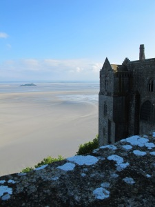 View at top of abbey, Mont St. Michel