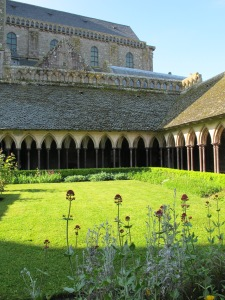 Cloister of abbey, Mont St. Michel