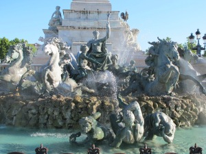 The Girondins monument fountain