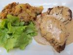 Chicken in mushroom truffle sauce