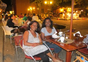 Sis and I having dinner, San Diego Plaza