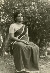 Ma in garden
